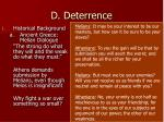 d deterrence