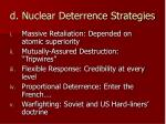 d nuclear deterrence strategies