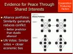 evidence for peace through shared interests