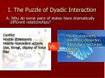 i the puzzle of dyadic interaction