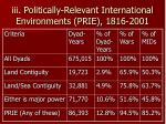 iii politically relevant international environments prie 1816 2001