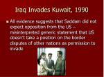iraq invades kuwait 1990