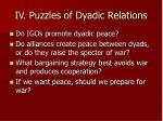 iv puzzles of dyadic relations