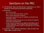 sanctions on the prc