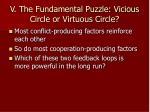 v the fundamental puzzle vicious circle or virtuous circle2