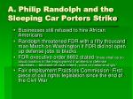 a philip randolph and the sleeping car porters strike