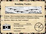bombing tactics
