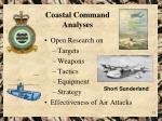 coastal command analyses