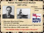 patrick maynard stuart blackett 1897 1974