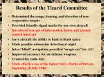 results of the tizard committee
