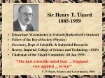 sir henry t tizard 1885 1959