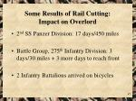 some results of rail cutting impact on overlord