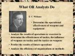 what or analysts do