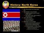 history north korea