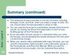 summary continued1