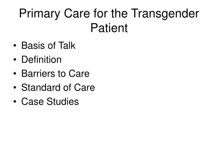 Primary transsexual definition