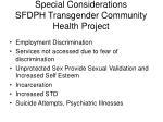 special considerations sfdph transgender community health project
