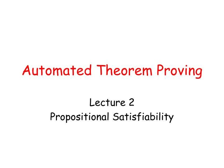 automated theorem proving n.