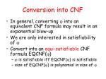 conversion into cnf