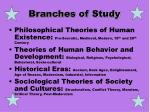 branches of study