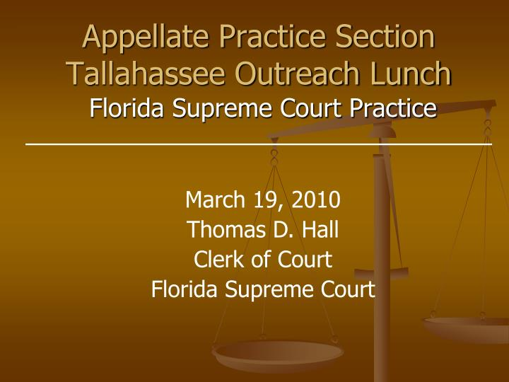 appellate practice section tallahassee outreach lunch n.