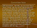 committee note