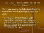 rule 2 420 public access to judicial branch records