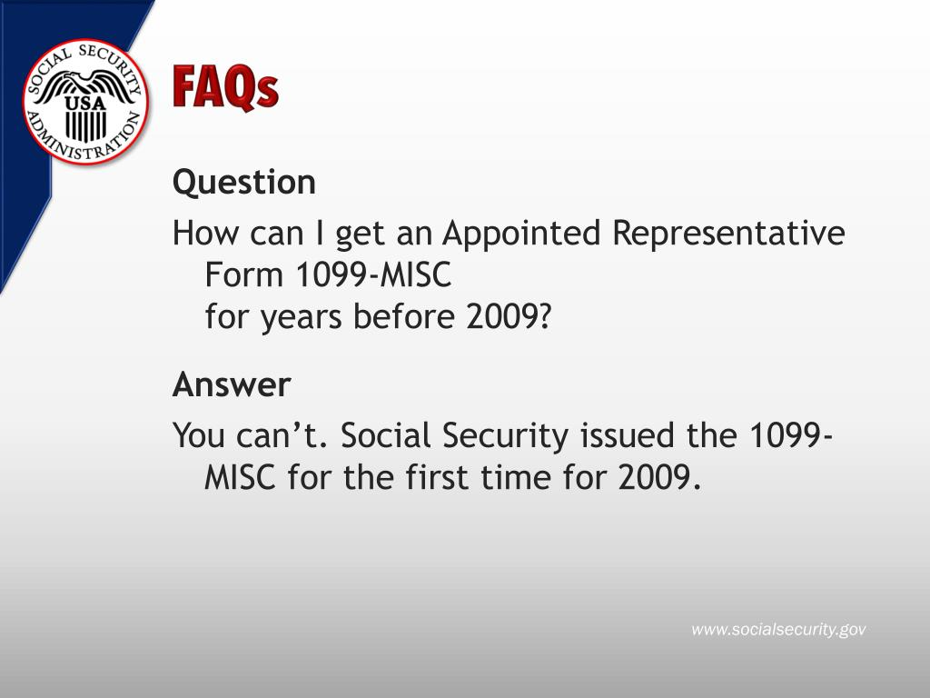 PPT - Direct Fee Payment to Representatives and Form 1099