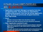 o neill v frost 2007 nswlec 400 bc200705292
