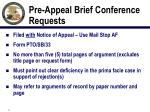 pre appeal brief conference requests