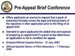 pre appeal brief conference