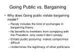 going public vs bargaining