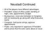 neustadt continued