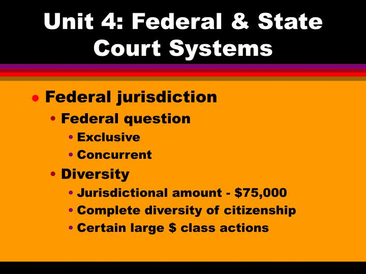 unit 4 federal state court systems n.