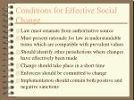 conditions for effective social change