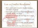 law as conflict resolution