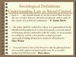 sociological definitions understanding law as social control