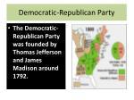 democratic republican party