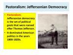 pastoralism jeffersonian democracy