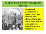 religion and reform in antebellum america