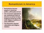 romanticism in america
