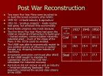 post war reconstruction