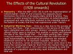 the effects of the cultural revolution 1928 onwards