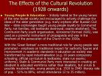 the effects of the cultural revolution 1928 onwards2
