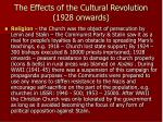the effects of the cultural revolution 1928 onwards3