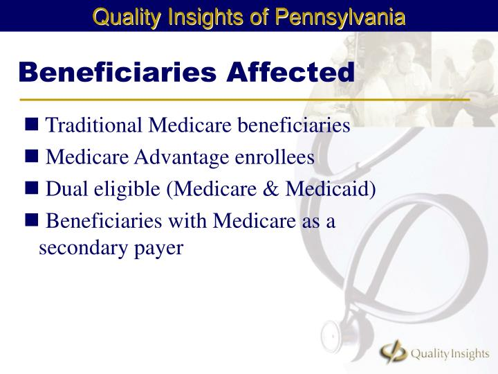 Beneficiaries affected