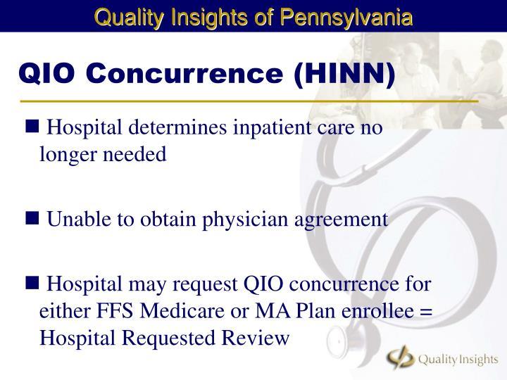 QIO Concurrence (HINN)