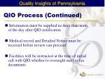qio process continued