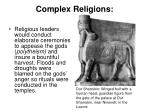 complex religions