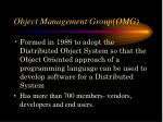 object management group omg